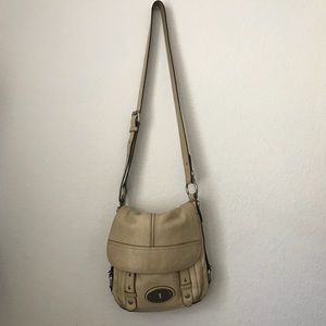 Vintage looking FOSSIL tan cross body